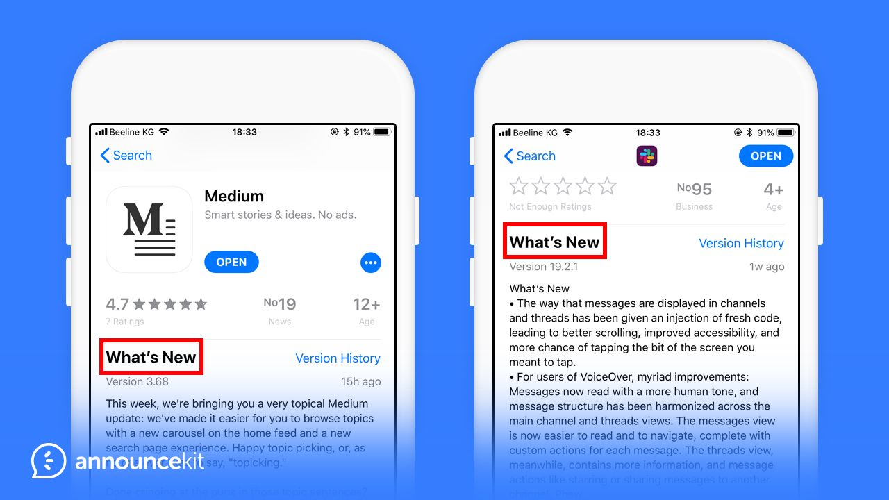app release notes that will make your day