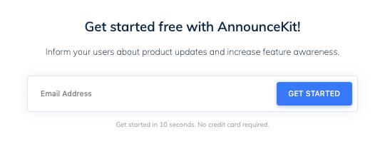 Announcekit-free-trial