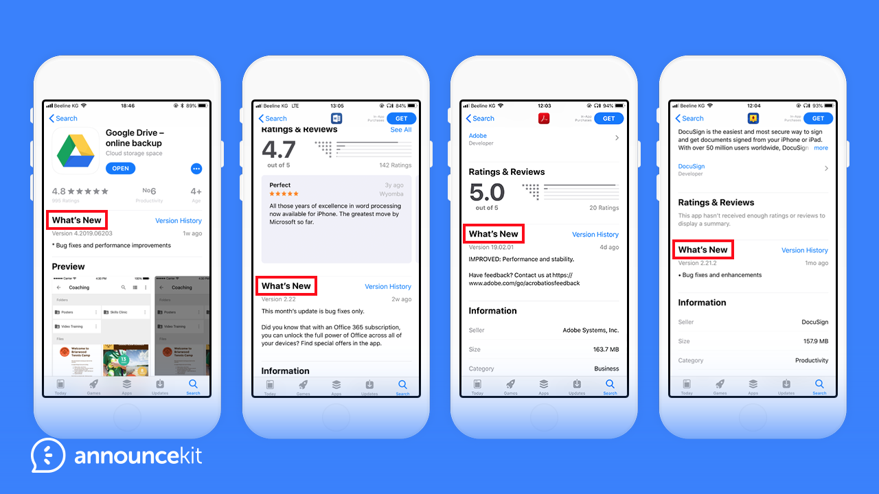release notes that will inspire you