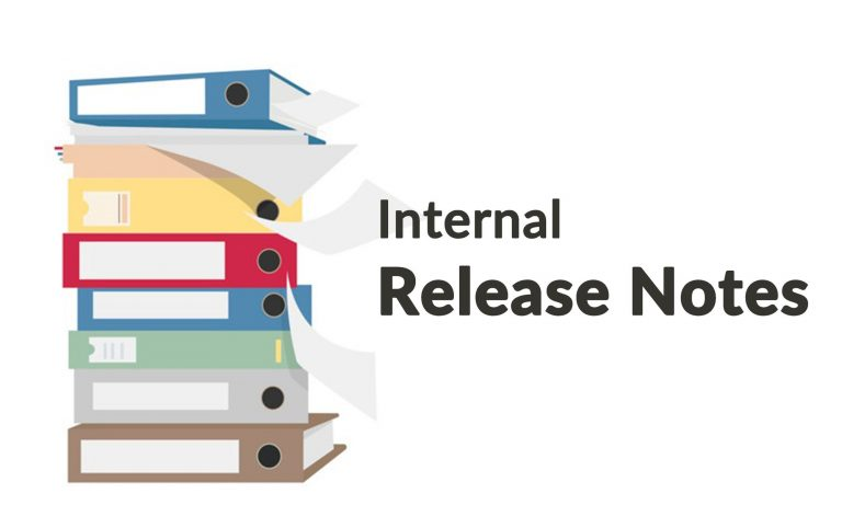 Internal release notes