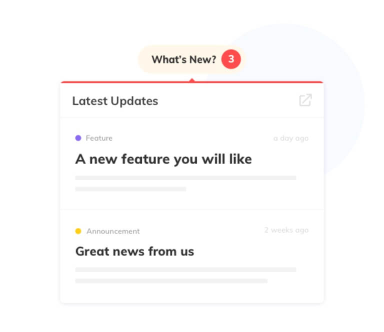 SAAS-for-product-updates