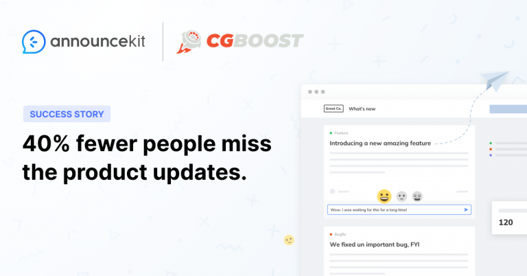 CG Boost Keeps Their Customers Up-to-Date Easily with AnnounceKit