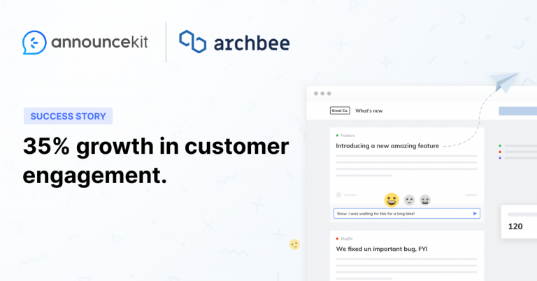 Archbee Increased Customer Engagement and Satisfaction with AnnounceKit Significantly