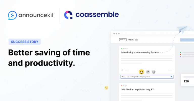 Coassemble Had No Centralized Location for Product Updates Before AnnounceKit