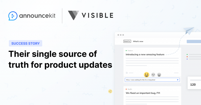 Visible Found a Proven Workflow for Product Updates with AnnounceKit