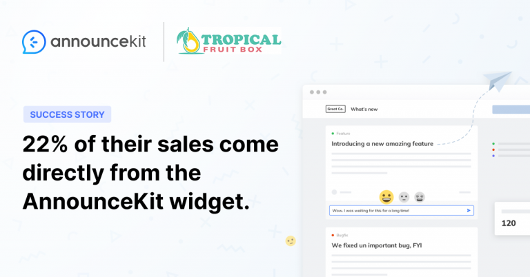 Tropical Fruit Box Keeps Their Exotic Fruits Fresh and Customers Up-to-Date with AnnounceKit