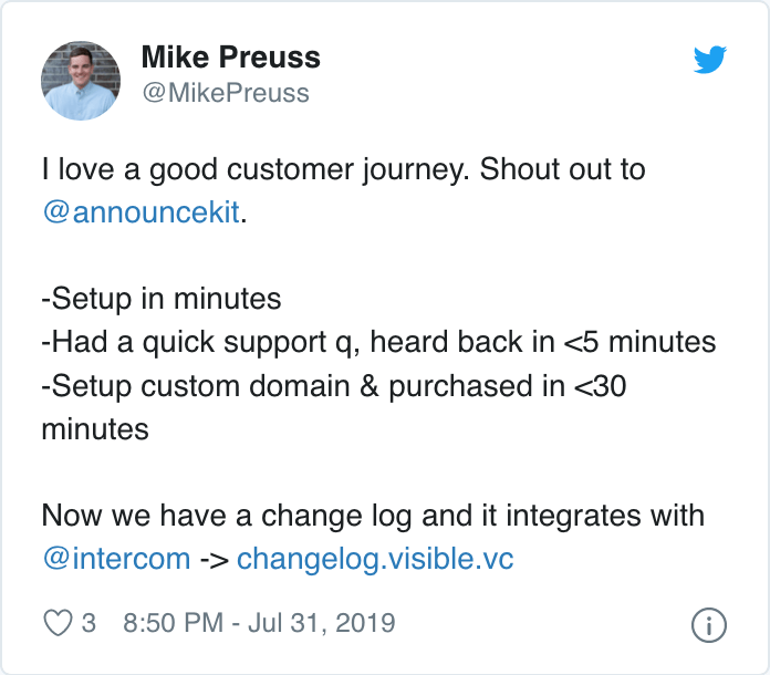 Mike Preuss AnnounceKit review tweet